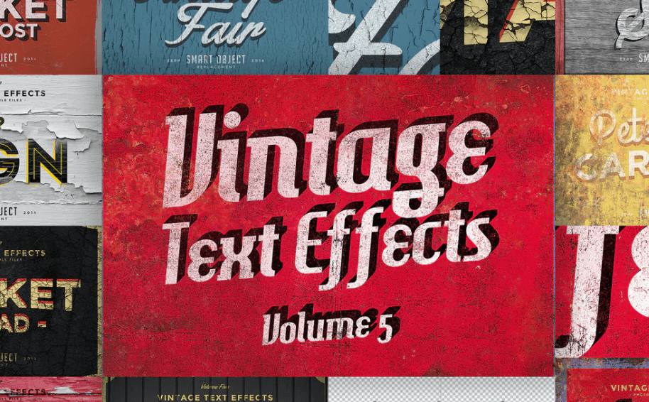 Vintage Text Effects Vol.5