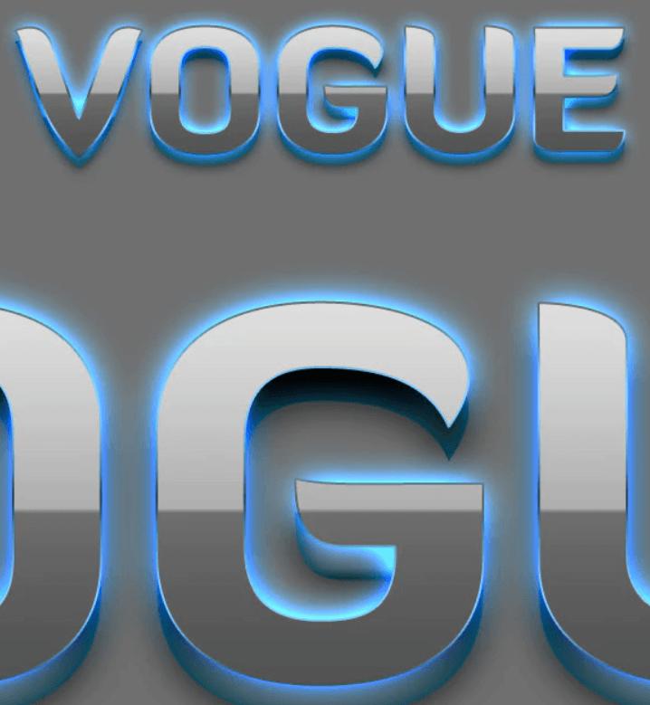 Vogue - 3D Text Styles