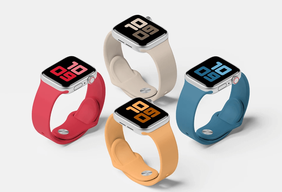 Free Smart Apple Watch Series 5 Set Mockup PSD Template