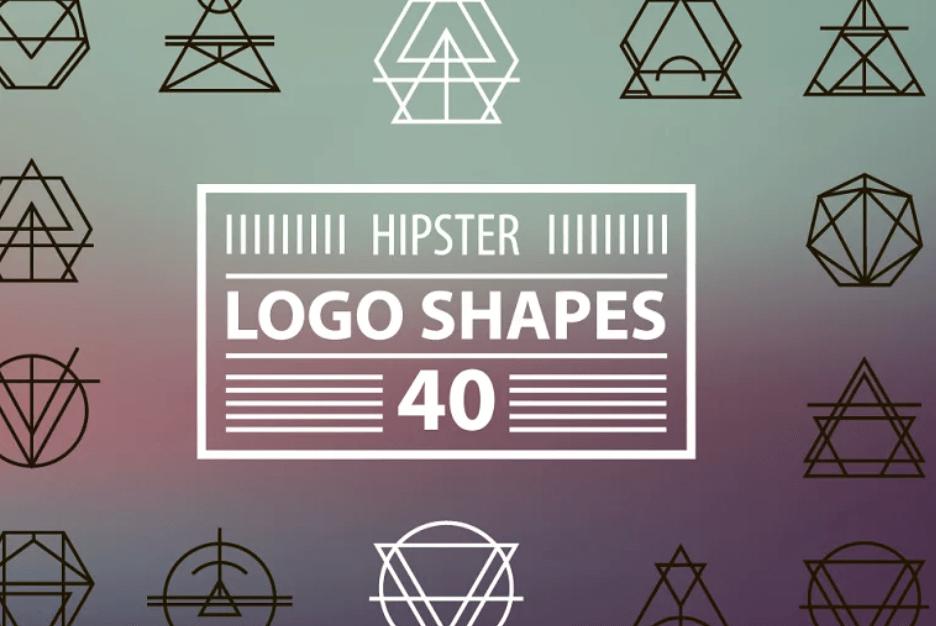 40 hipster geometric logo shapes