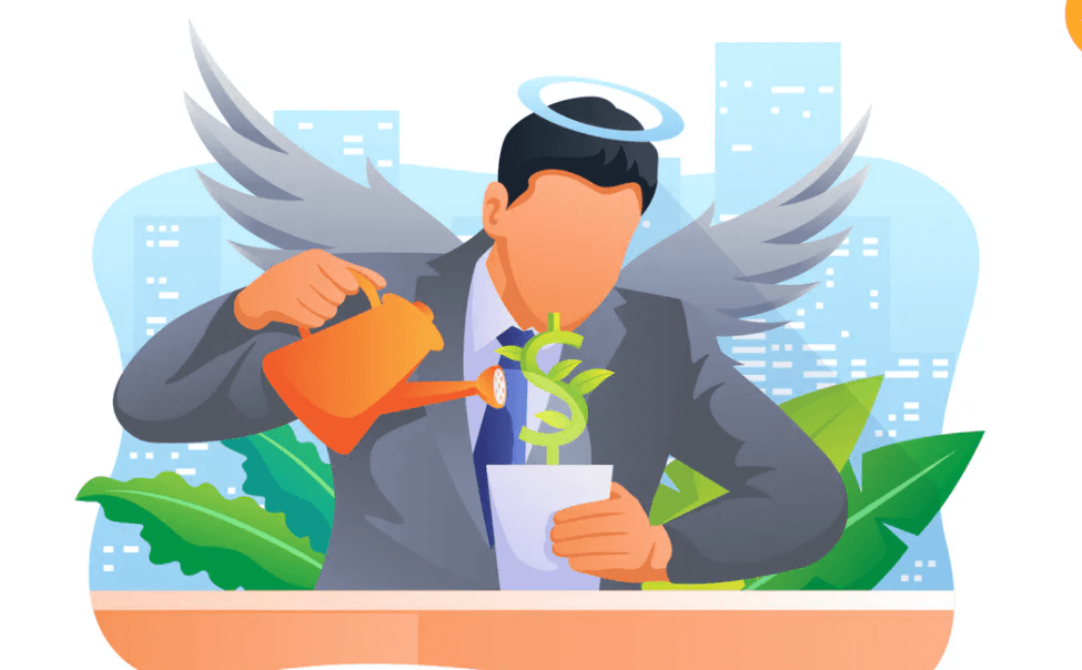 Angel Investor Vector Illustration Concept