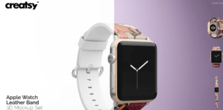 Apple Watch Leather Band Mockup Set