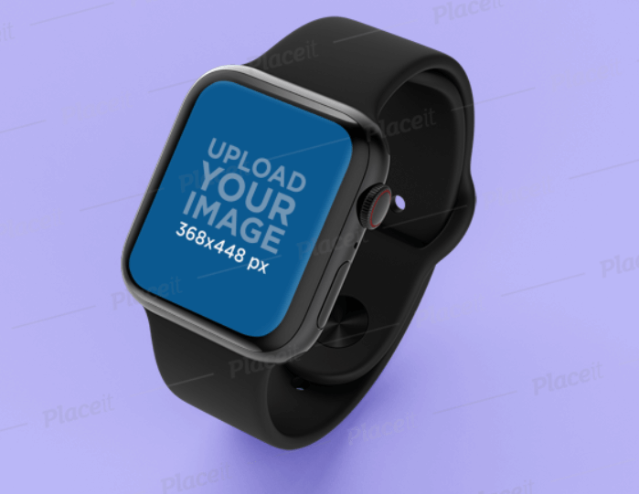 Apple Watch Mockup on a Flat Custom Background