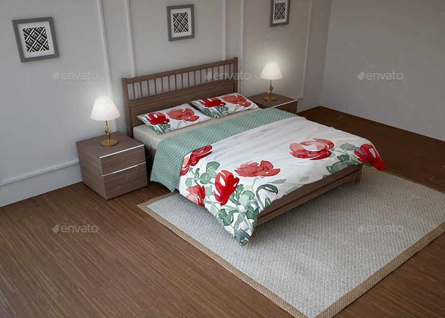 Bed Linen & Bedding Sets Mockup (1)