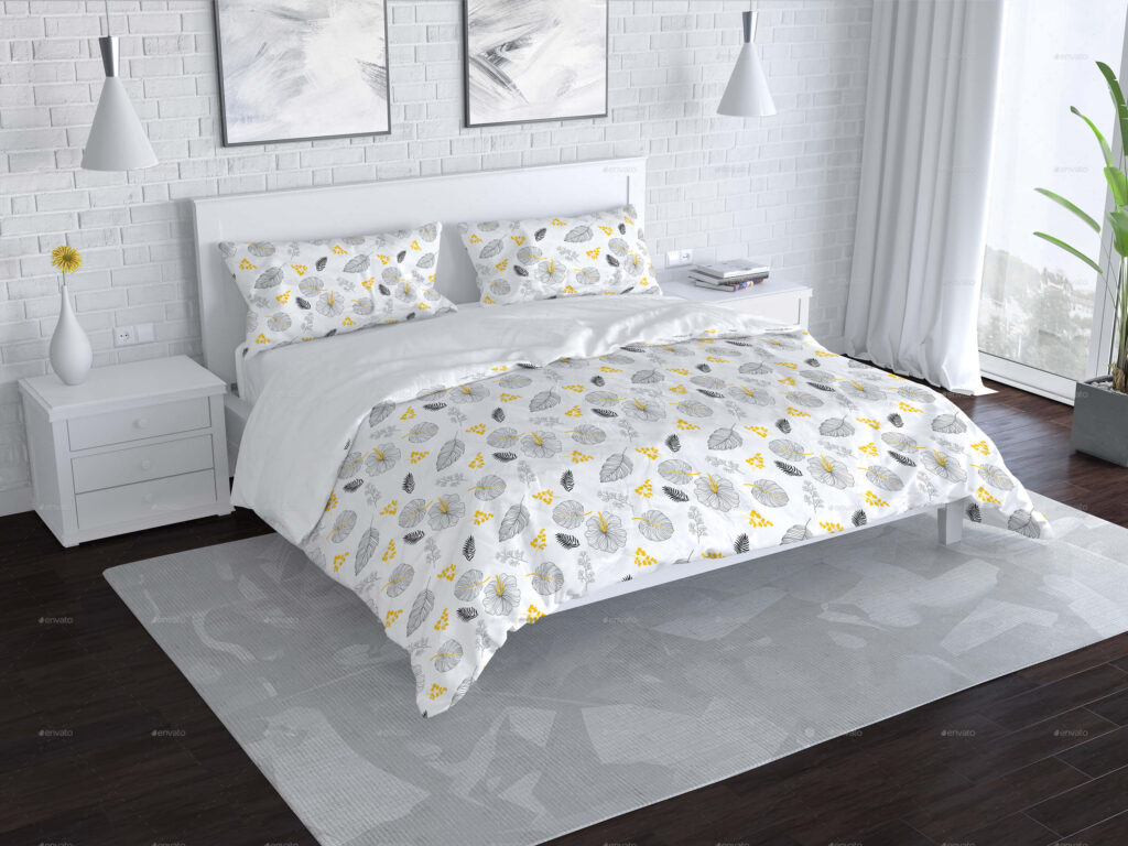 Bedroom and Bed Linen Mockup (1)