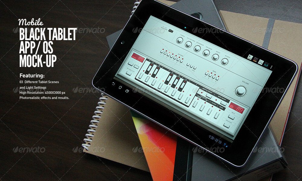 Black Tablet Android GUI App Mock-Up (1)