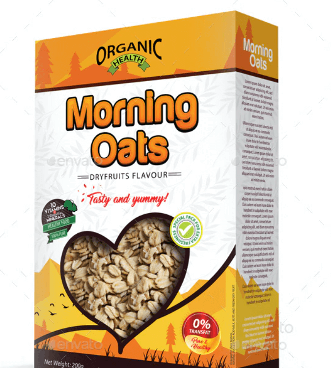 Cereal Packaging Template Vol-02