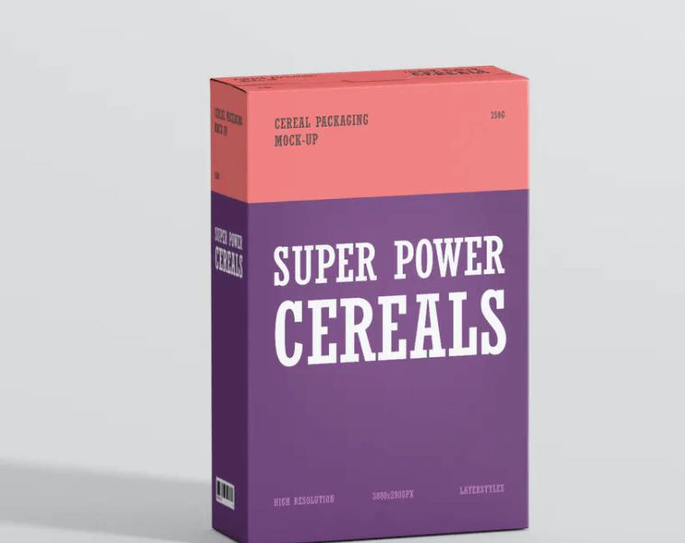 Cereals Box Mockup1