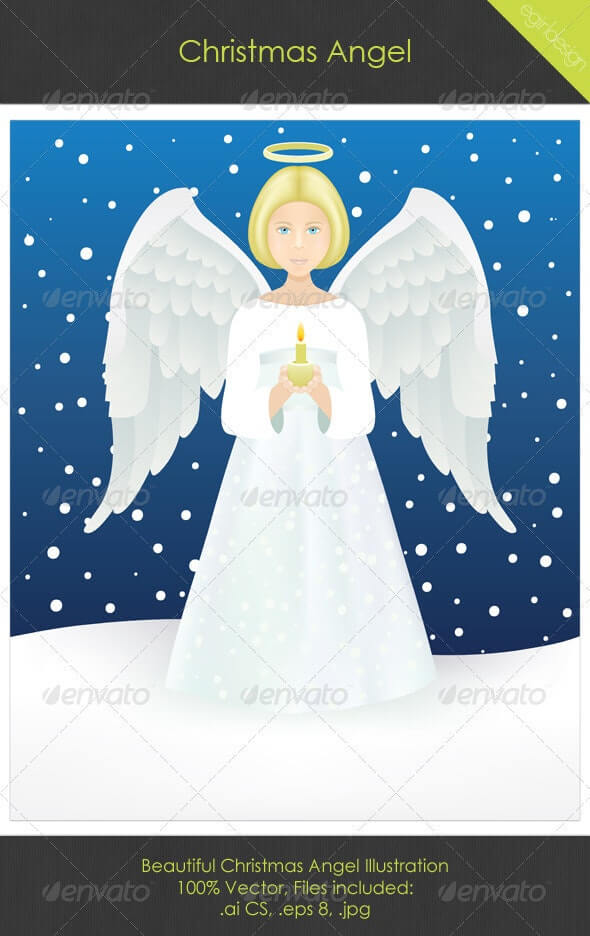 Christmas Angel Illustration (1)