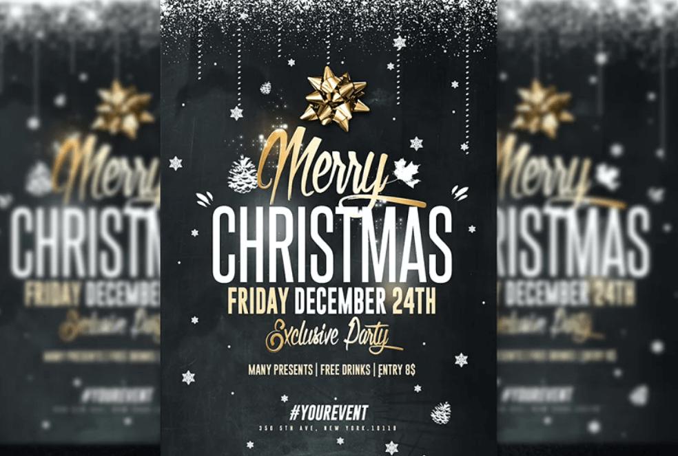 Christmas Party - Psd Invitation