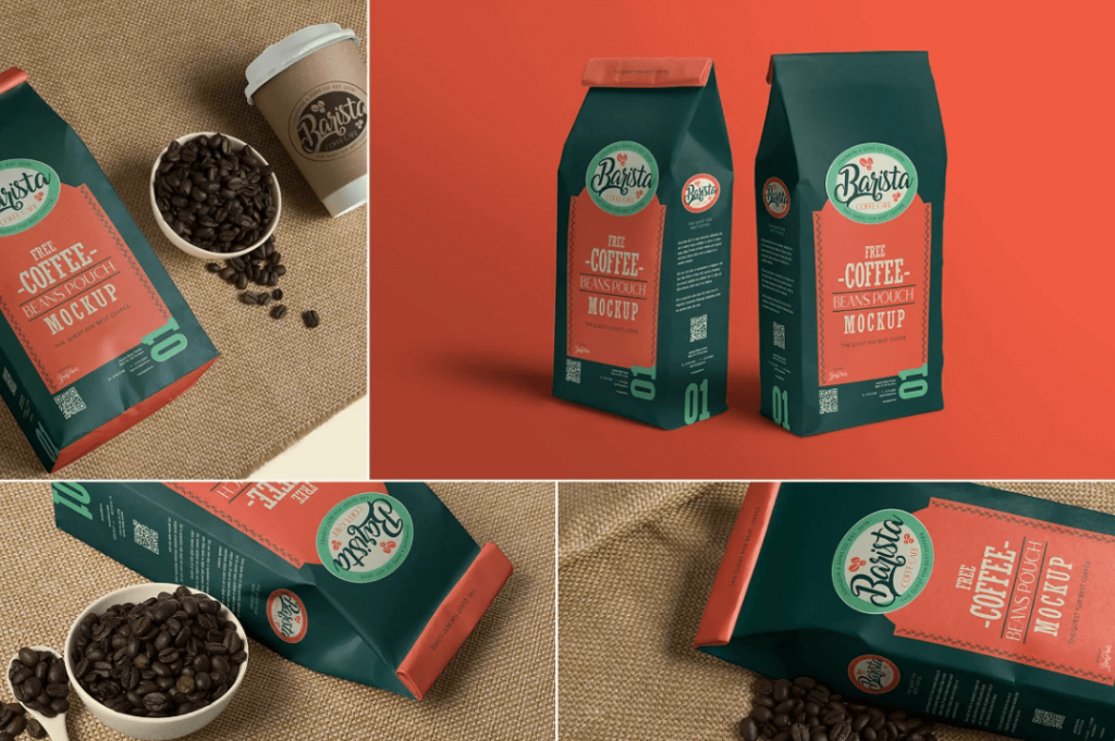 Coffee Pouch Mockups