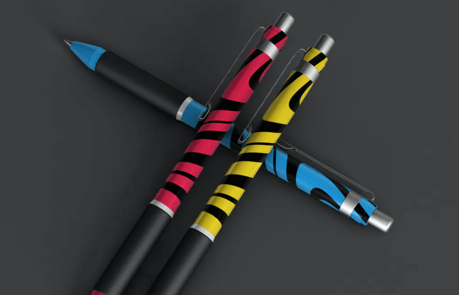 Colorful Pens Mockup