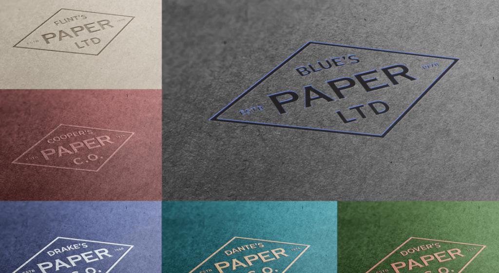 Exclusive Paper Logo Mockups
