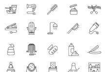 Free 20+ Hair Salon Vector Icons (1)