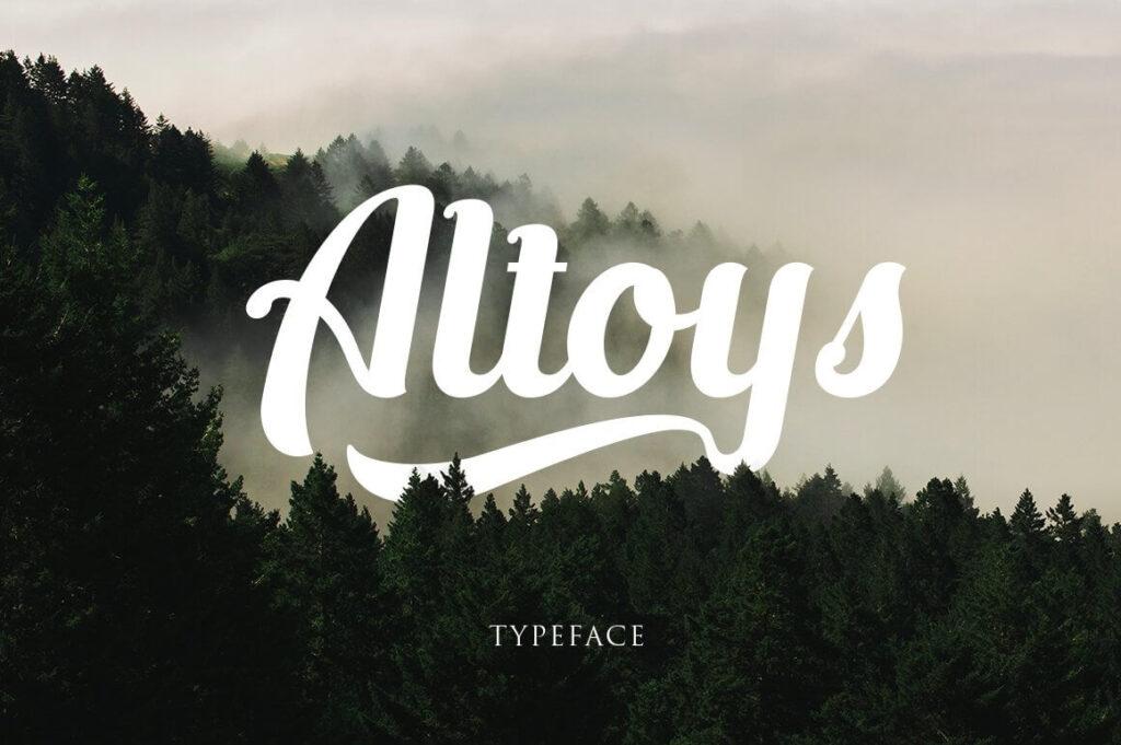 Free Altoys Italic Demo Typeface (1)