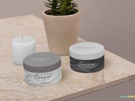 Free Amazing Cosmetic Jar Mockup PSD Template (1)