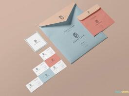 Free Beautiful Envelope Mockup PSD Template (1)