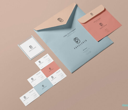 Free Beautiful Envelope Mockup PSD Template (1)