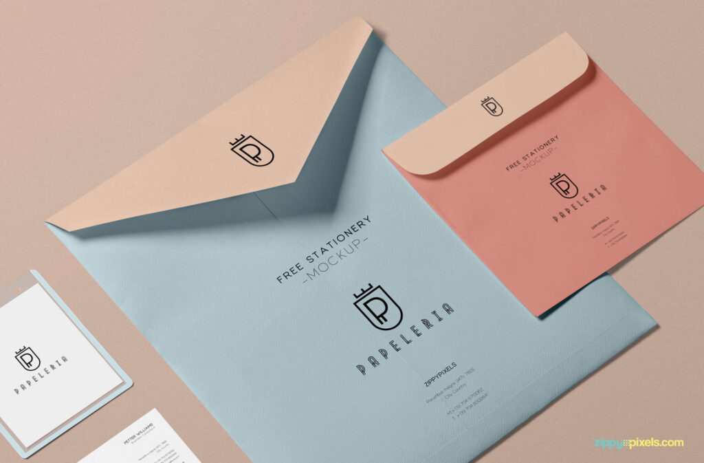 Free Beautiful Envelope Mockup PSD Template2 (1)