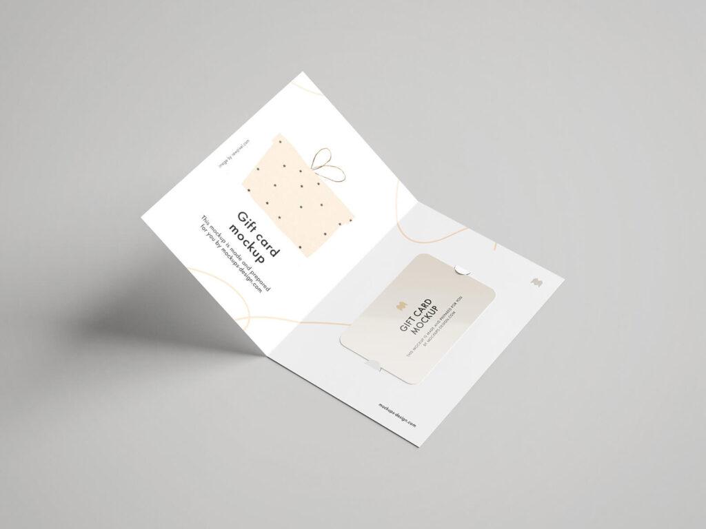 Free Beautiful Gift Card Mockup PSD Template (1)