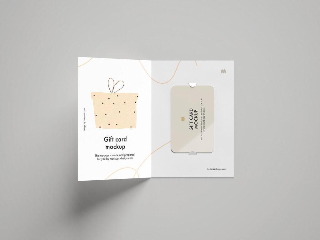 Free Beautiful Gift Card Mockup PSD Template1 (1)