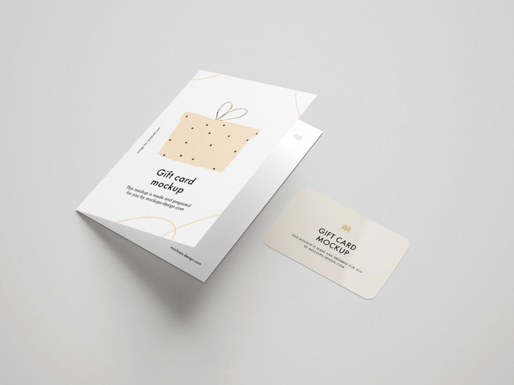 Free Beautiful Gift Card Mockup PSD Template2 (1)