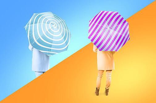 Free Beautiful Umbrella Mockup Set PSD Template2 (1)