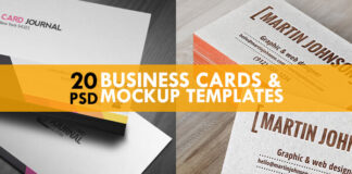 Free Business Cards Mockup PSD Templates (1)