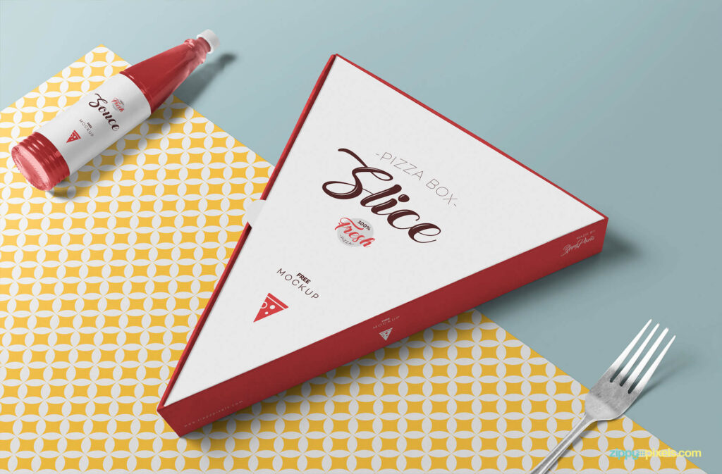 Free Changeable Pizza Slice Box Mockup PSD Template (1)