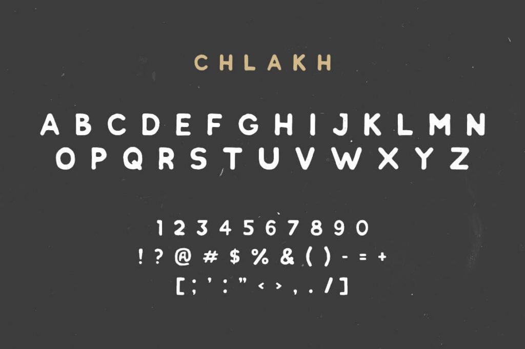 Free Chlakh Retro Typeface2 (1)