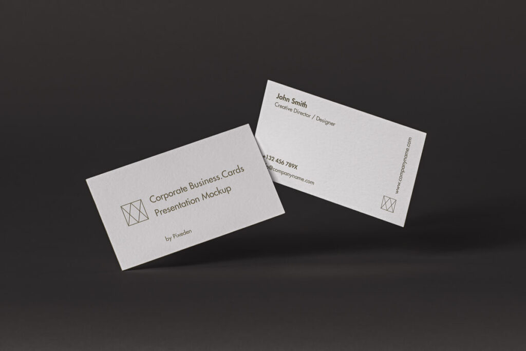 Free Classic Corporate Business Card Mockup PSD Template (1)
