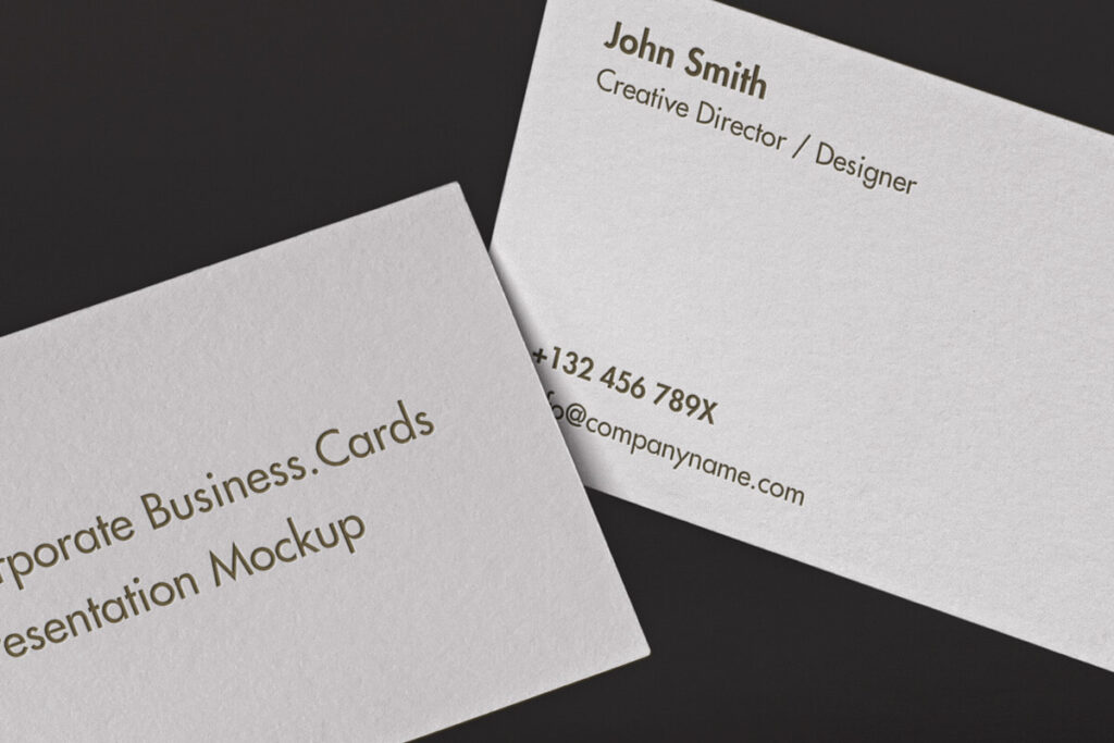 Free Classic Corporate Business Card Mockup PSD Template2 (1)