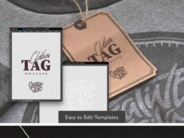 Free Clothes Label Tags Mockups PSD Templates (1)