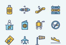 Free Colored Airport Vector Icons (1)