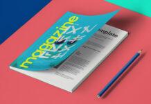 Free Compact A5 Magazine Mockup PSD Template (1)