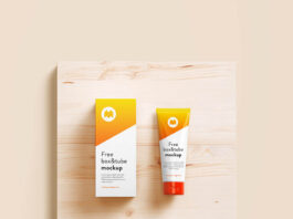 Free Cosmetic Tube & Box Mockup PSD Template (1)