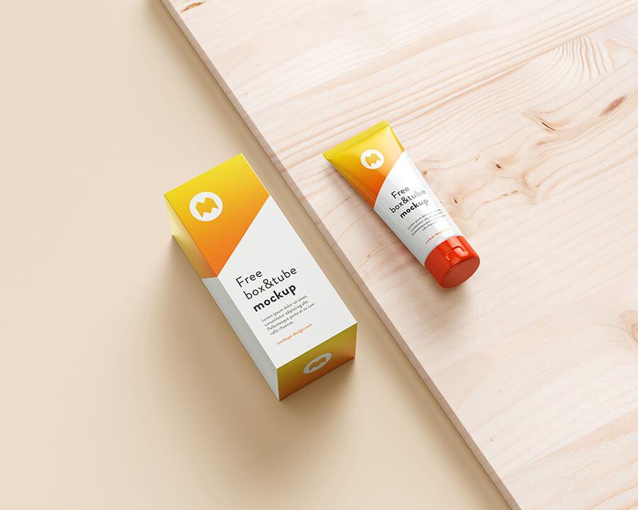 Free Cosmetic Tube & Box Mockup PSD Template1 (1)