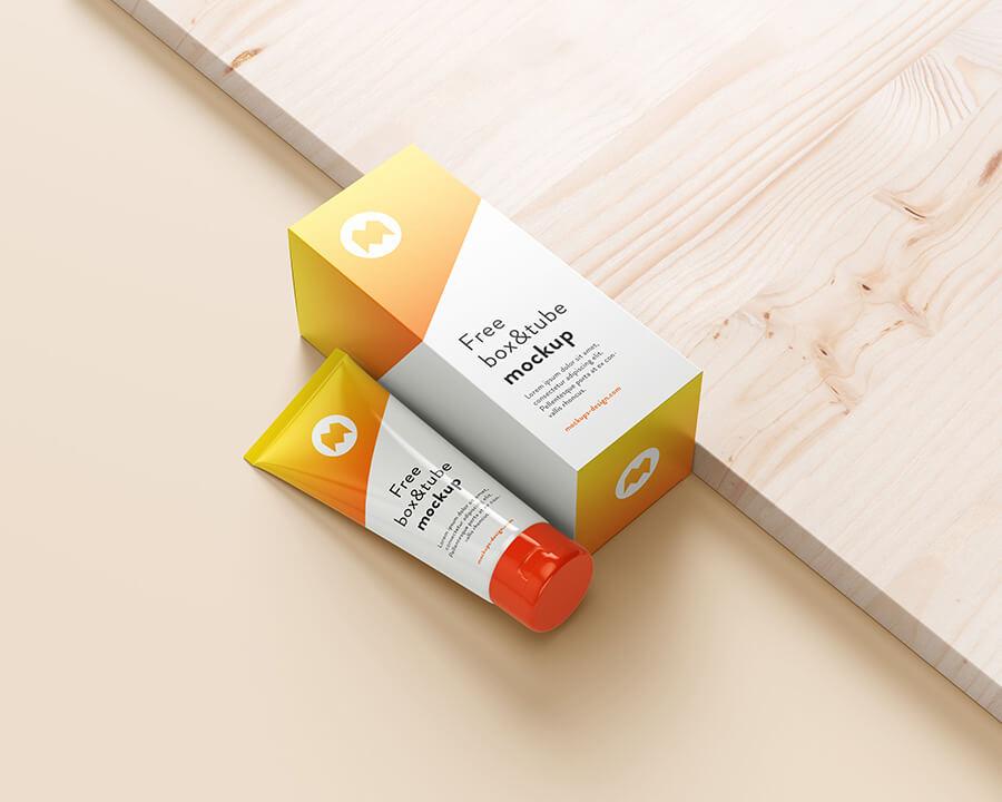 Free Cosmetic Tube & Box Mockup PSD Template2 (1)