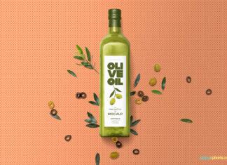 Free Customizable Glass Bottle Mockup PSD Template (1)