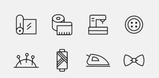Free Customizable Sewing Vector Icons (1)