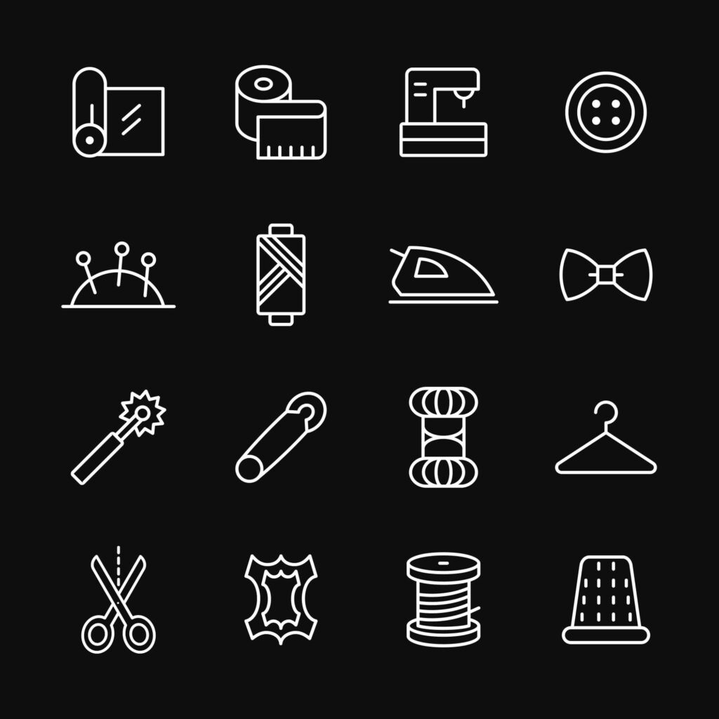 Free Customizable Sewing Vector Icons1 (1)