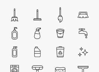 Free Daily Cleaning Vector Icons (1)