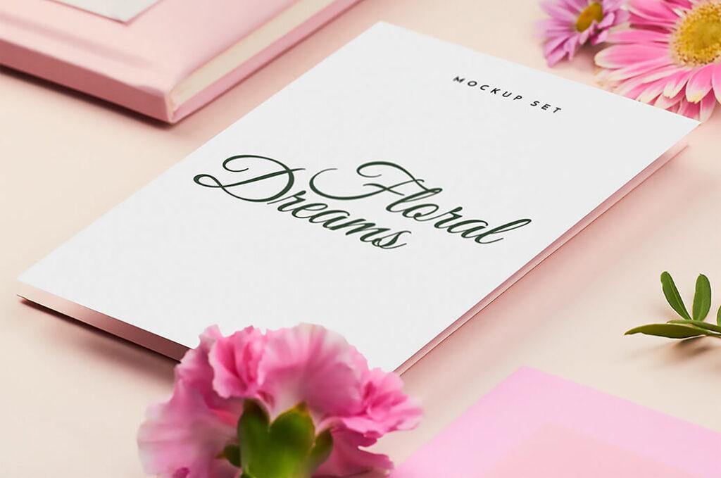Free Decorative Floral Dreams Mockup Set PSD Template (1)