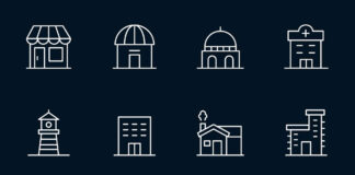 Free Designable Building Vector Icons (1)
