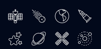 Free Designed Space Vector Icons (1)