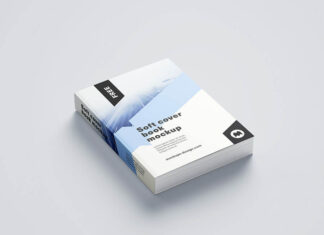 Free Embarrassing Softcover Book Mockup PSD Template (1)