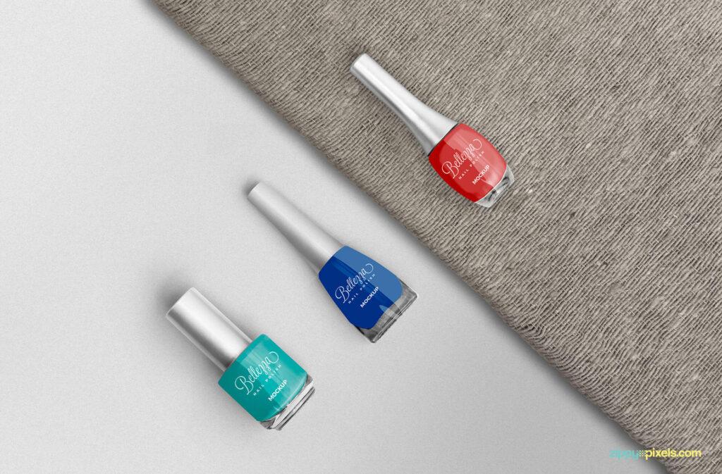 Free Fashionable Stunning Nail Polish Mockup PSD Template (1)