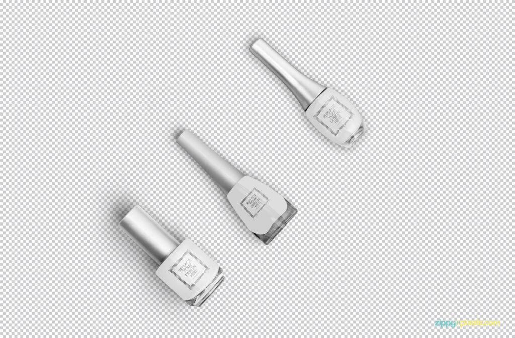 Free Fashionable Stunning Nail Polish Mockup PSD Template1 (1)