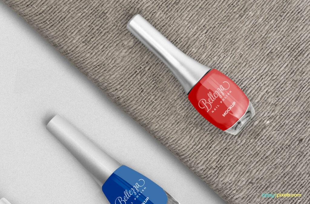Free Fashionable Stunning Nail Polish Mockup PSD Template2 (1)