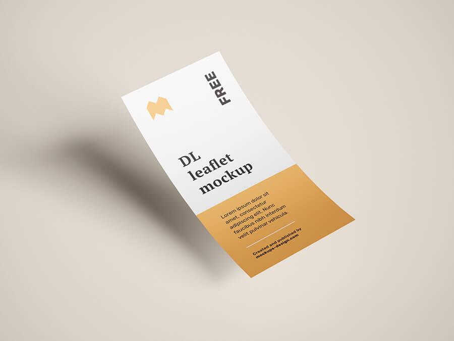 Free Flying DL Leaflets Mockup PSD Template (1)